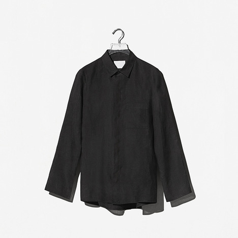 N.EDITION LINEN SHIRT Black