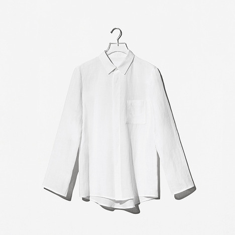N.EDITION LINEN SHIRT White