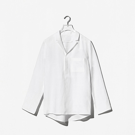 N.EDITION LINEN Y-SHIRT White