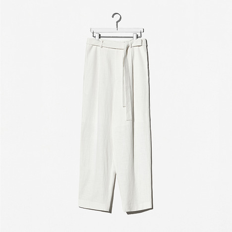 N.EDITION BELT PANTS Ivory