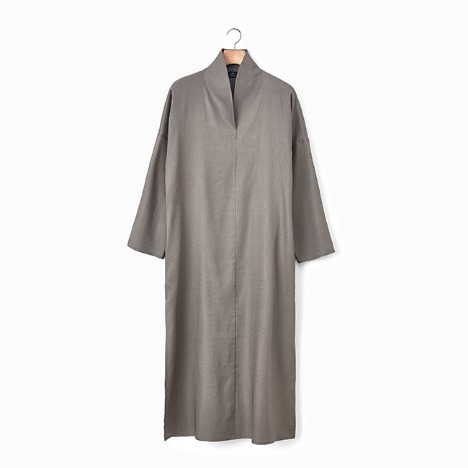 N.5 MAXI DRESS Khaki brown