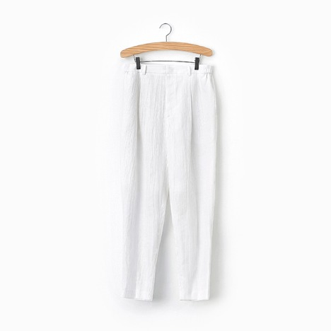 N.5 CREASE PANTS White