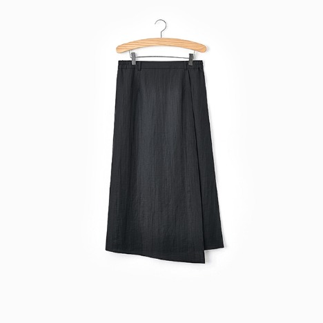 N.5 LONG WRAP SKIRT Black