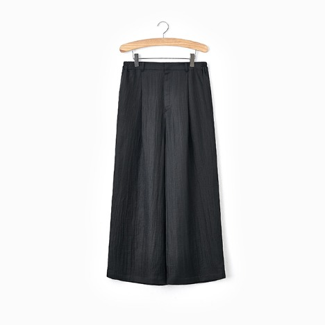 N.5 CREASE WIDE PANTS Black