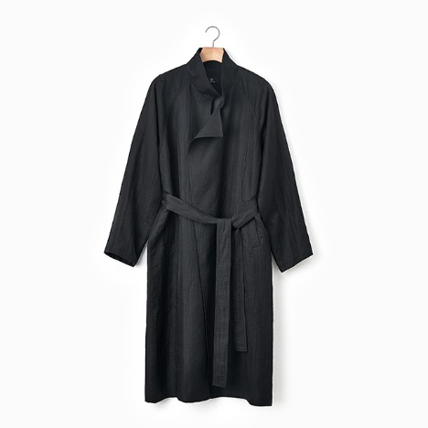 N.5 CREASE TRENCH COAT Black