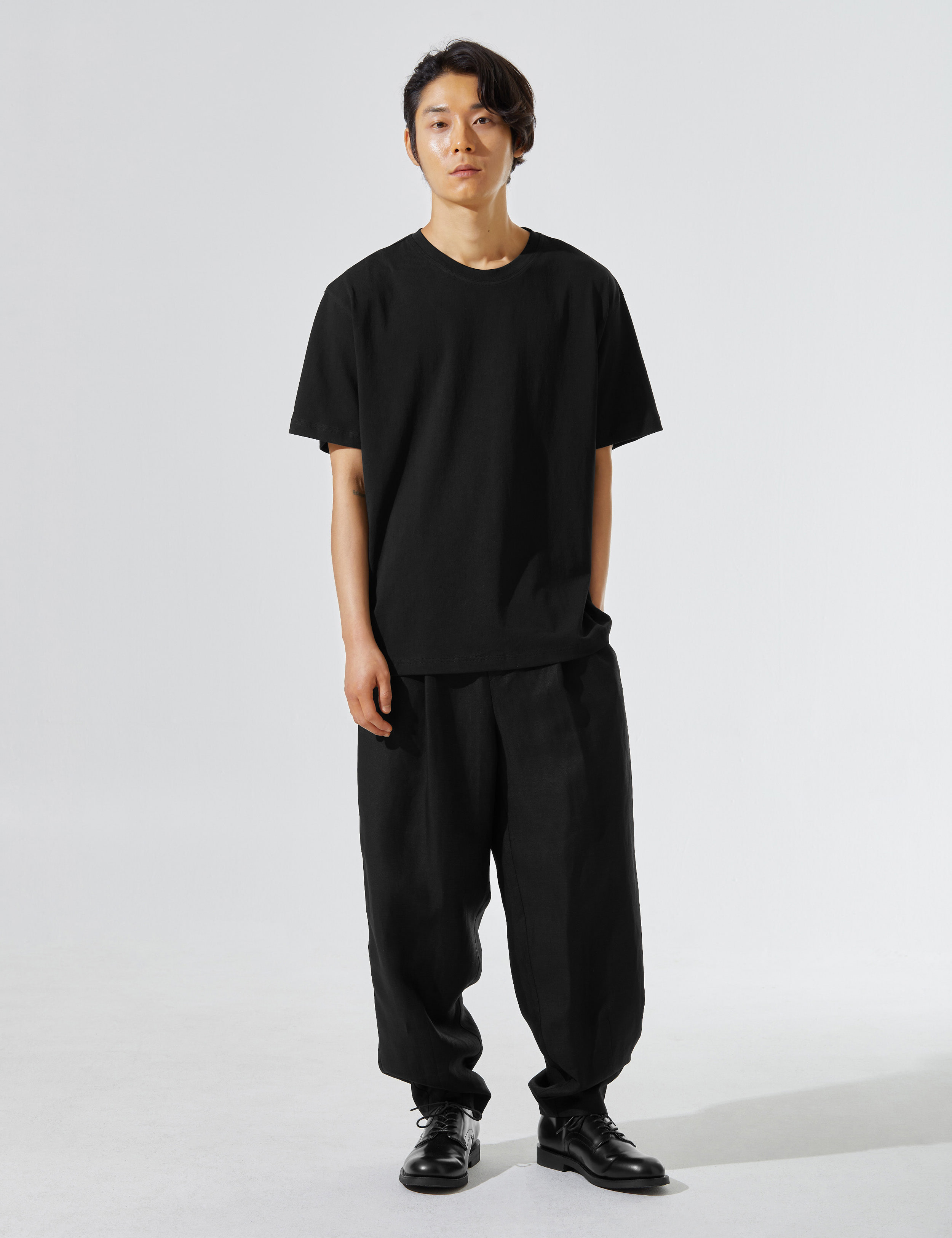 N.7 Waist wide pants Black