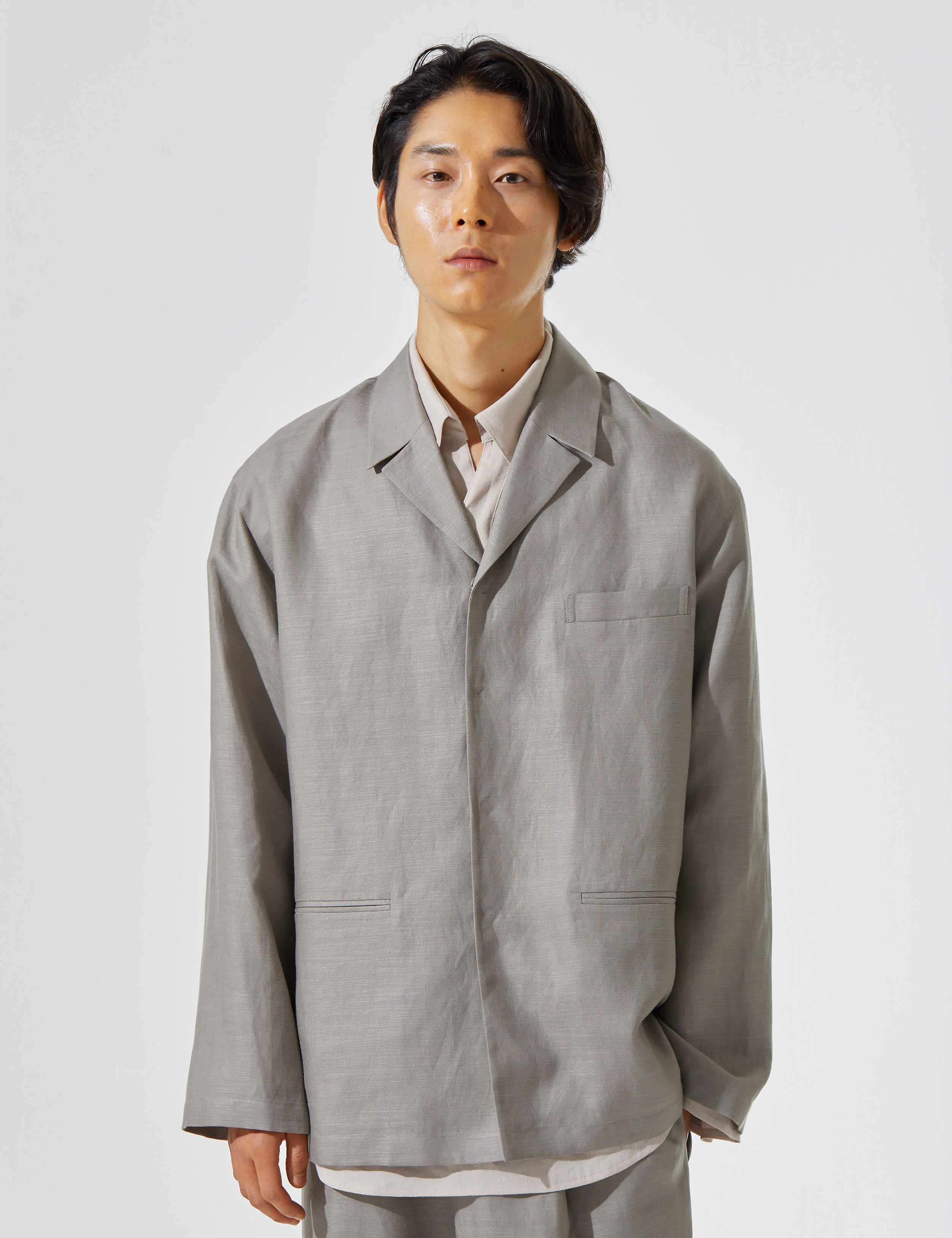N.7 Shirt-jacket Khaki gray