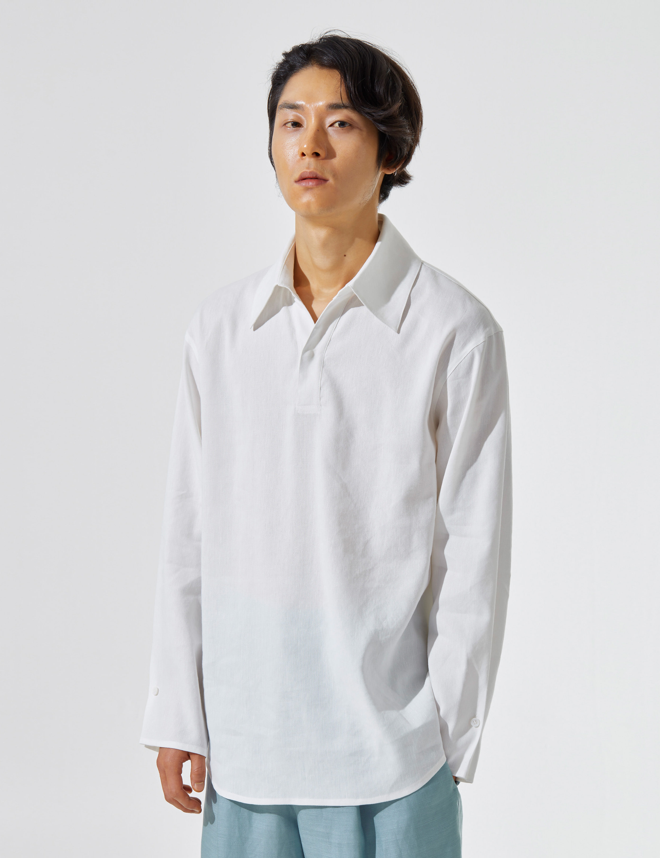 N.7 Wide lapel shirt White