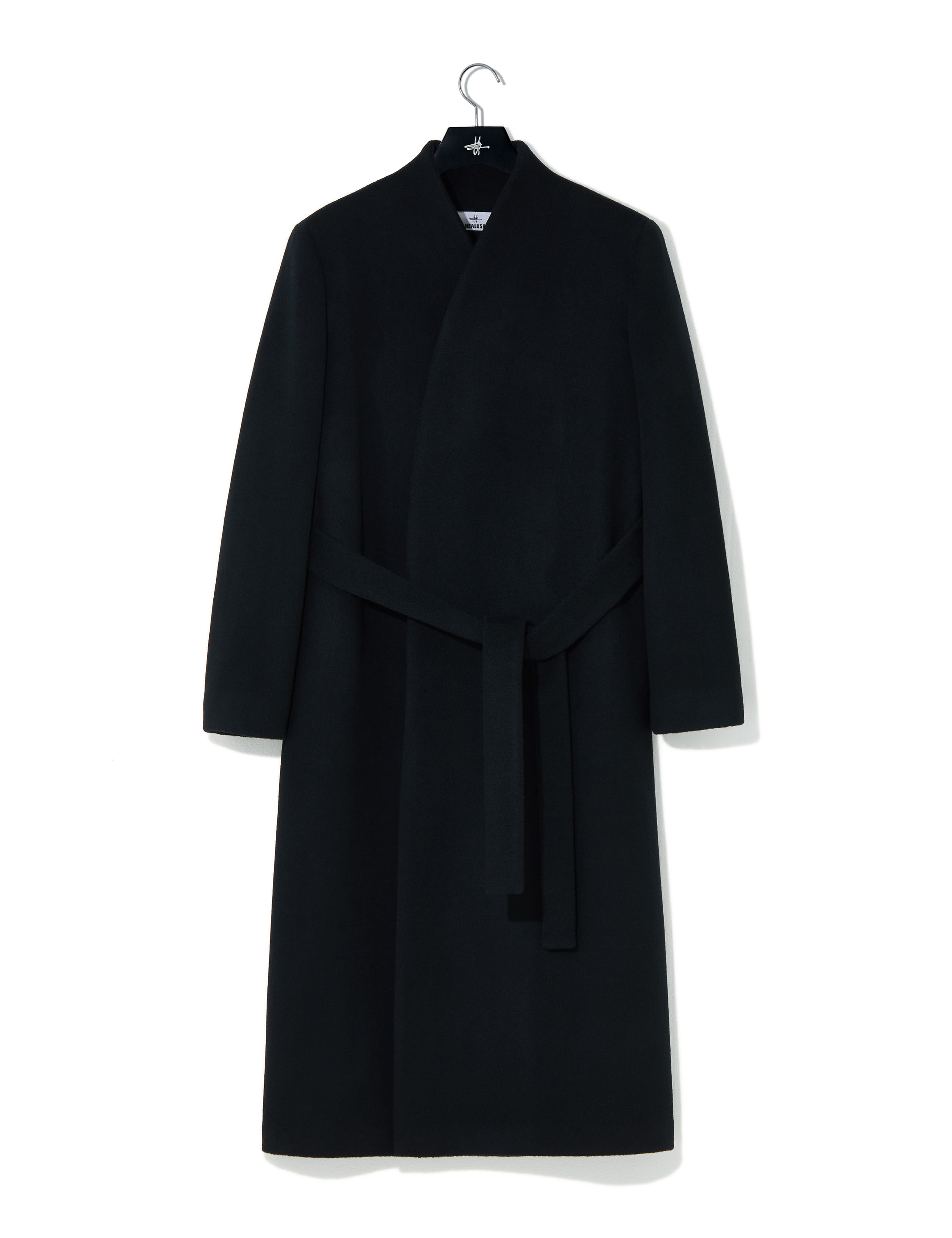 Signature overcoat black