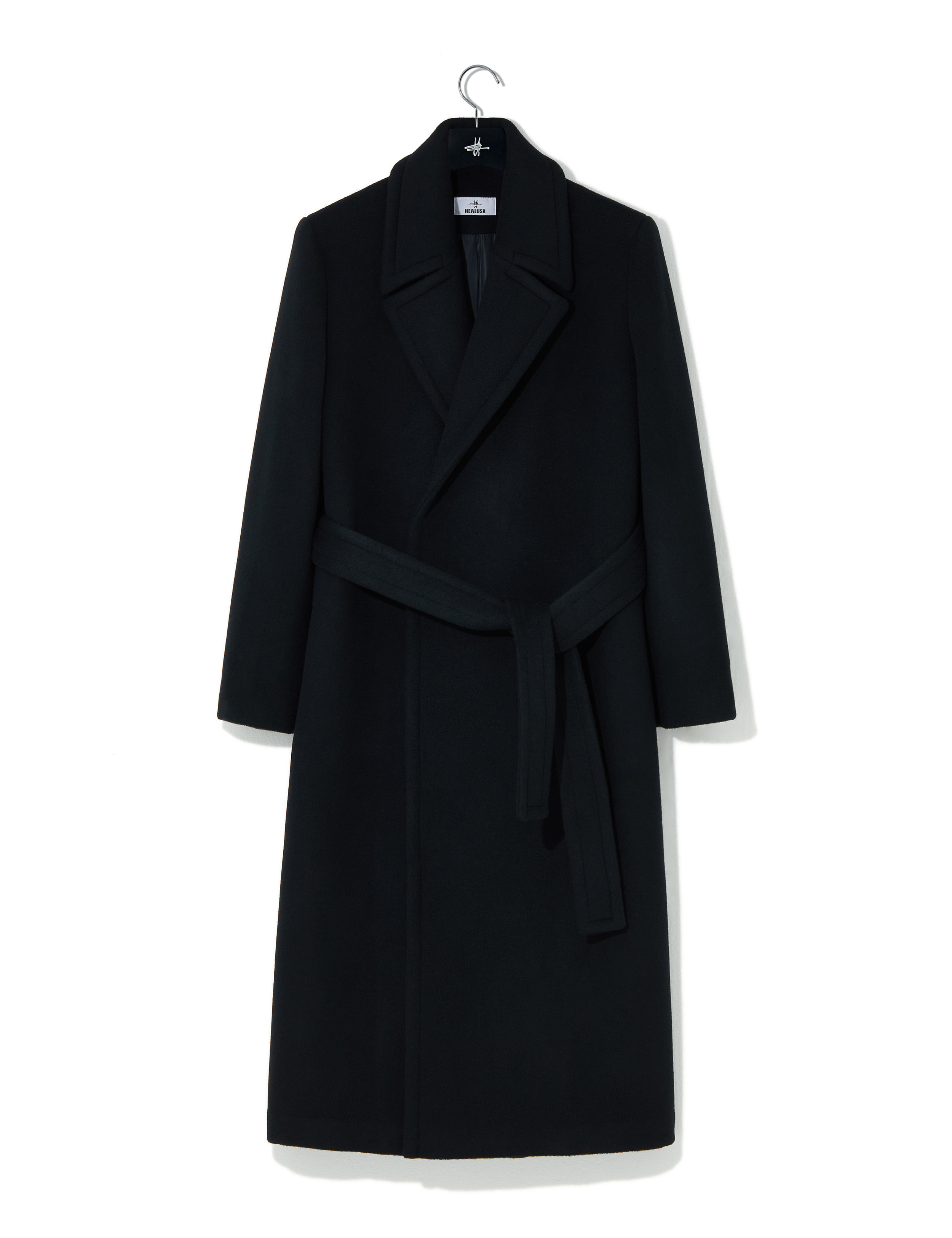 Seine wool robe coat black